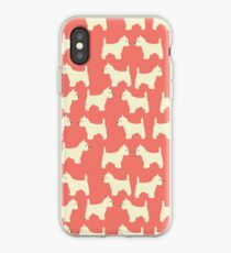 West Highland Terrier in Lachs iPhone-Hülle & Cover