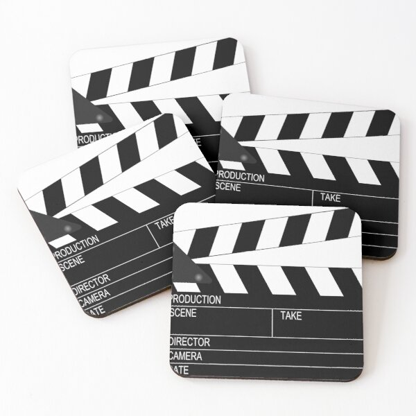 Clapperboard  Coasters (Set of 4)