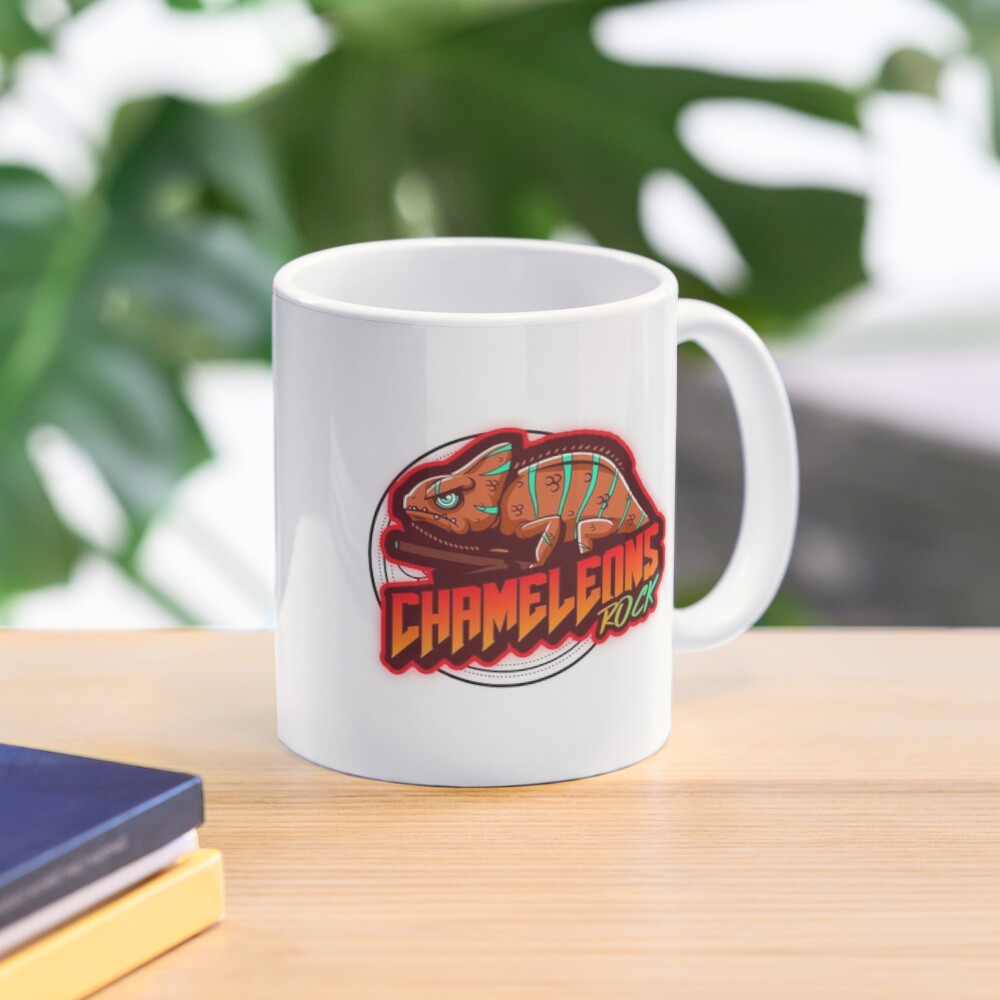 Chameleons Rock Colourful Bright Mug