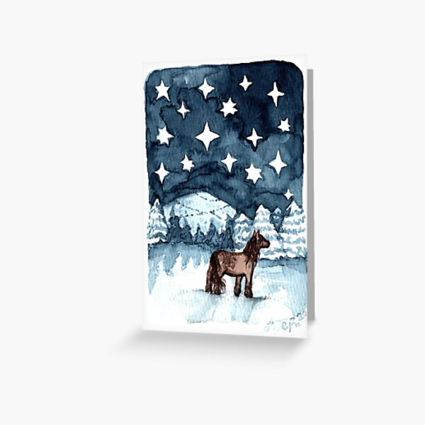 Snowfield horse Greeting Card