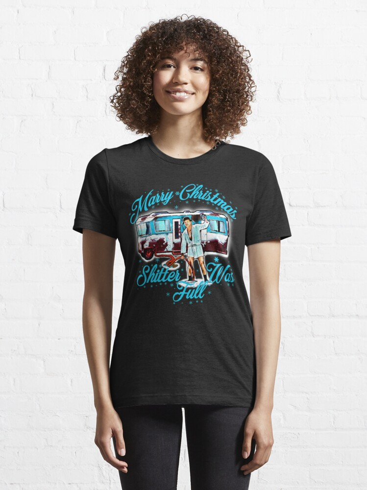 Alternate view of Merry Christmas Shitter Was Full Vintage Essential T-Shirt