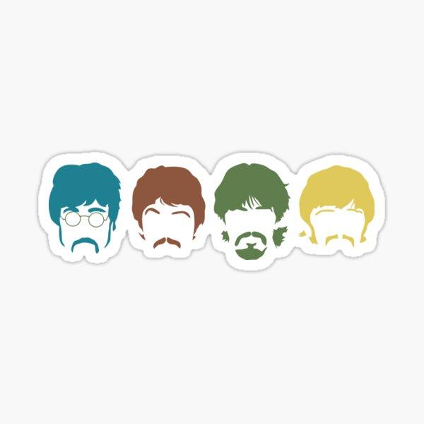 The Beatles Ringo Starr The Beatles John Lennon Paul McCartney, amigo, rostro Pegatina