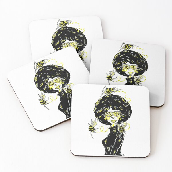 Honey and the Bees Coasters (Set of 4)