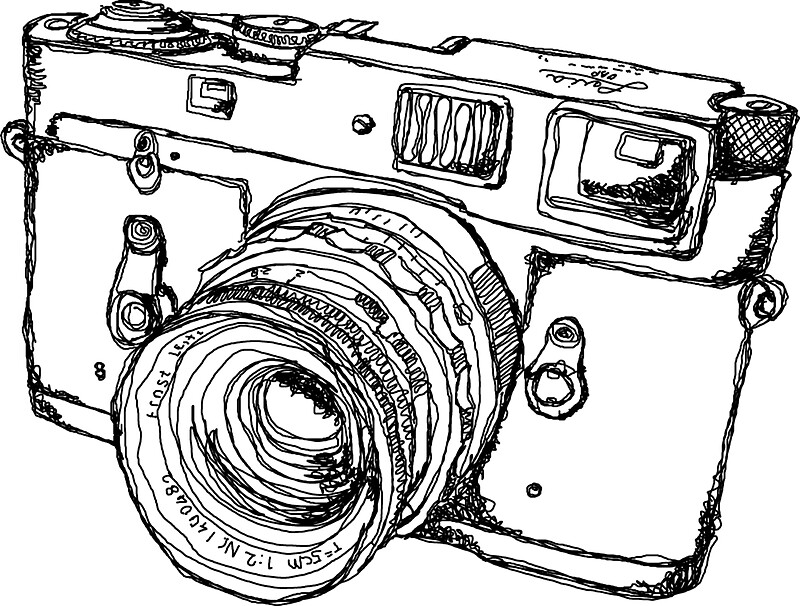 u0026quot rangefinder style camera drawing u0026quot  stickers by strayfoto