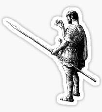Rude Roman with Spear Sticker