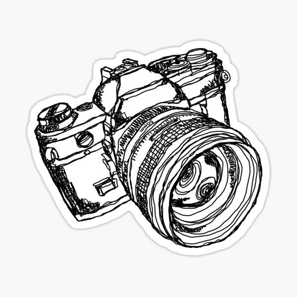Vintage 35mm SLR Camera Design Sticker