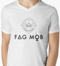 Fag mob Men's V-Neck T-Shirt