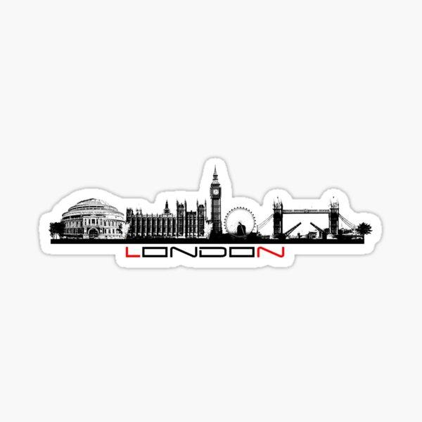 London skyline city  Sticker
