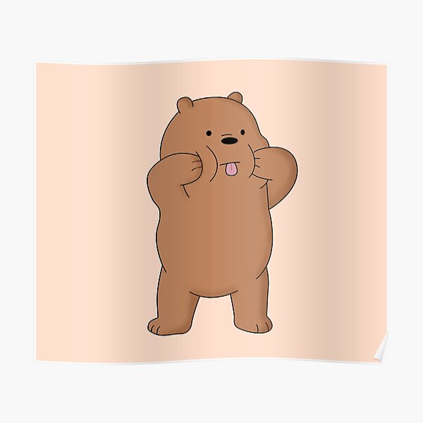 We Bare Bears™ Grizzly bear Poster