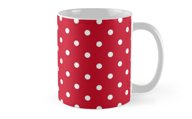 Big Apple Red-Apple-Shiny Red-with White Polka Dots\