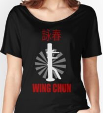 Wing Chun Style T-shirt & Wooden Dummy Martial Art Women's Relaxed Fit T-Shirt