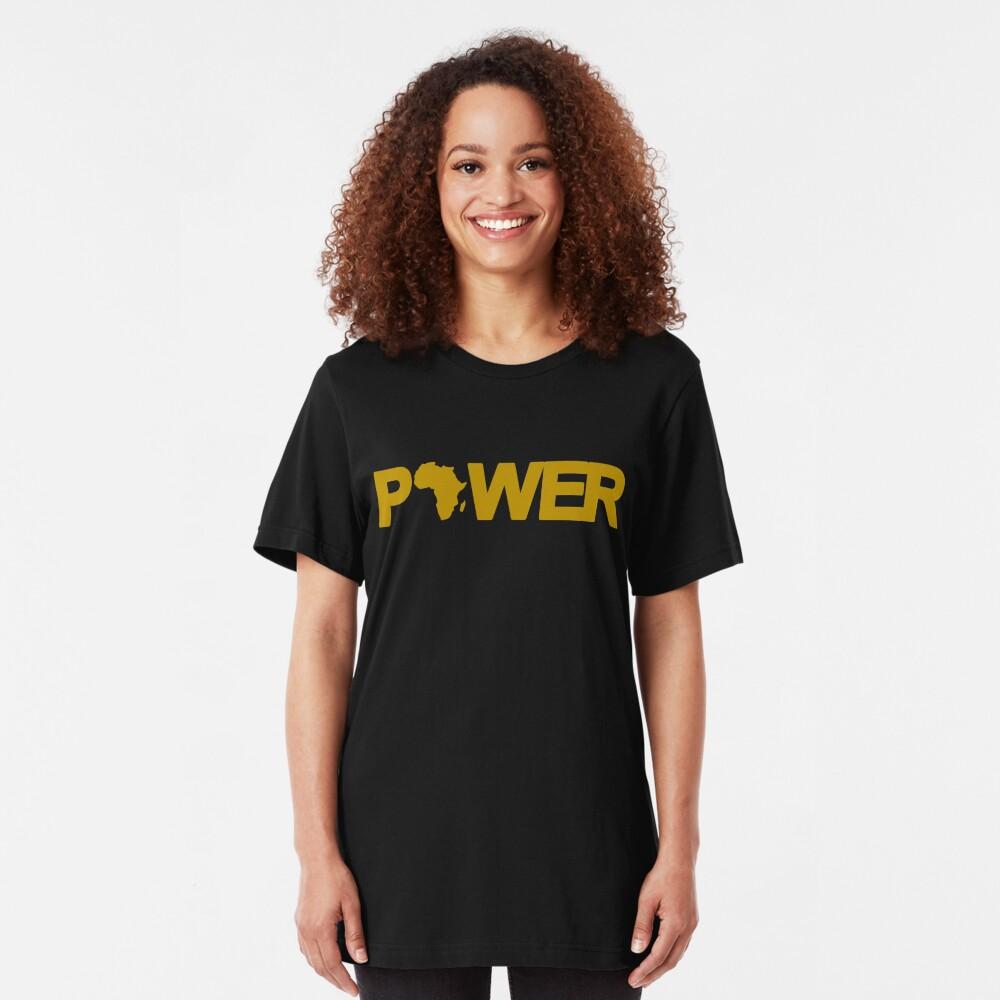 Black Power Third Culture Series Slim Fit T-Shirt