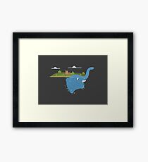 Lochness monster is an floating elephant Framed Print