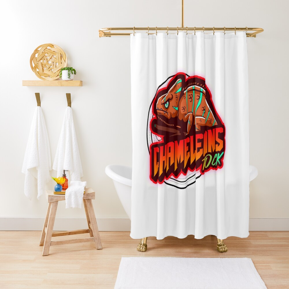 Chameleons Rock Colourful Bright Shower Curtain