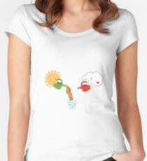 The Glass is Refillable Women's Fitted Scoop T-Shirt