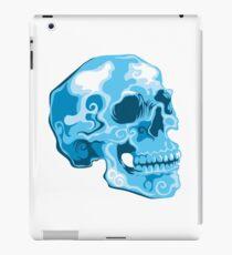 blue skull illustration iPad Case/Skin