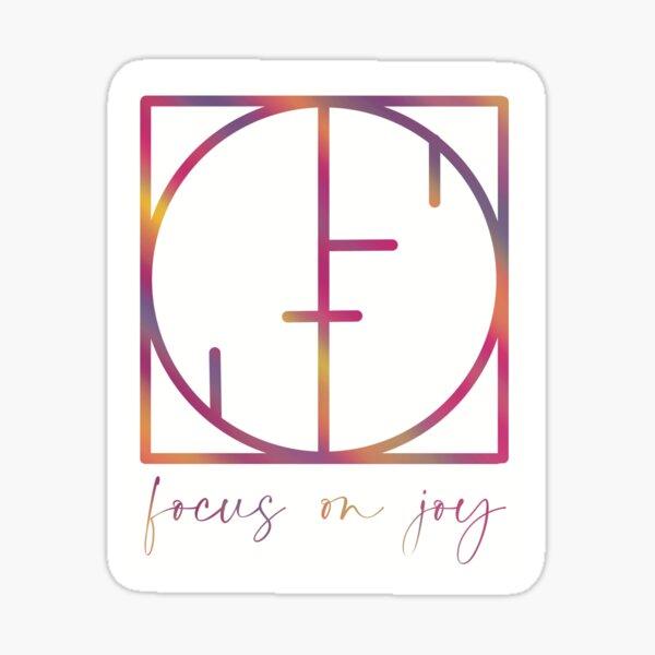 Focus on Joy Sticker