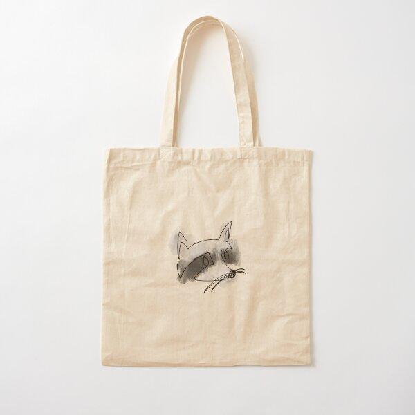 Line Art Raccoon Cotton Tote Bag