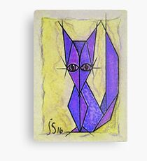 blue fox Metal Print