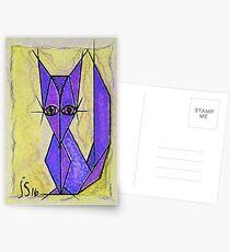 blue fox Postcards