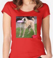 Camiseta entallada de cuello ancho Frisbee Doge