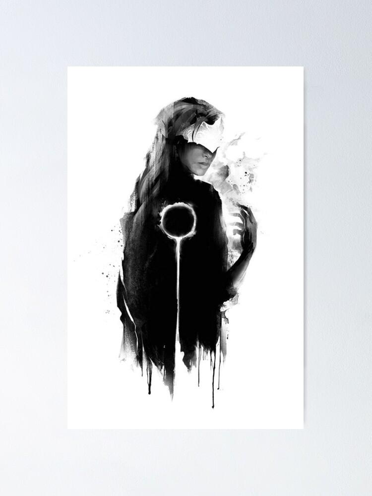 Alternate view of darksouls III fire keeper Poster