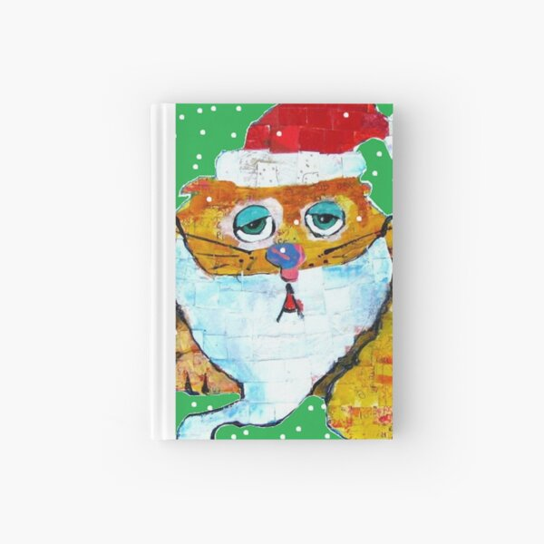 Santa Cat Hardcover Journal