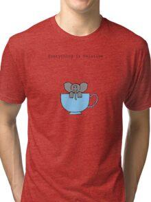 The Elephant's House is a Teacup Tri-blend T-Shirt