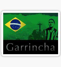 Brazilian soccer player Garrincha Sticker