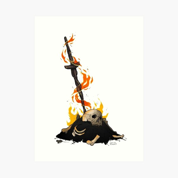 darksouls bonfire  Art Print
