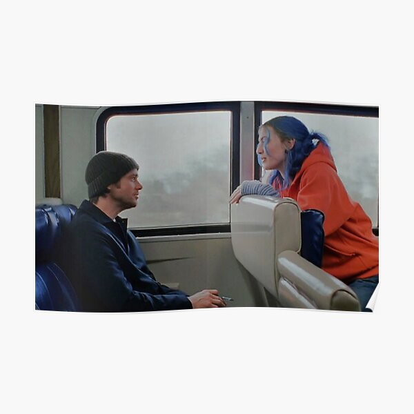 Eternal sunshine of the spotless mind train scene Poster