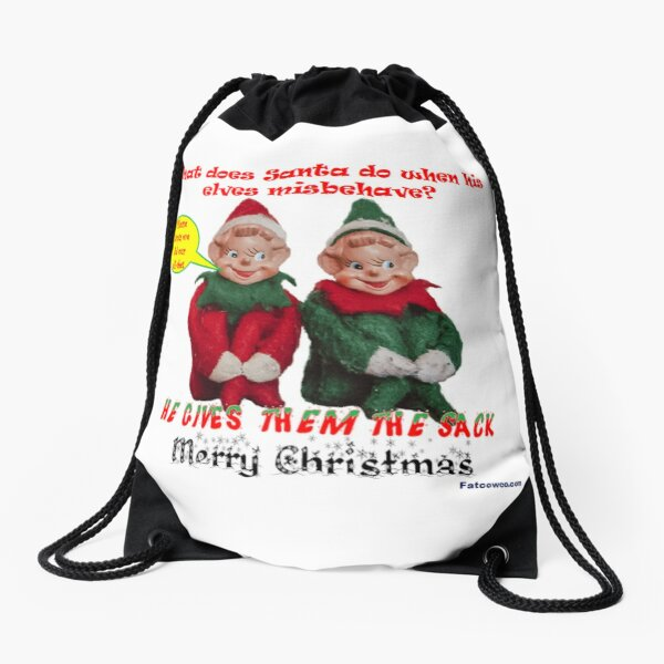 Naughty Elf's Drawstring Bag