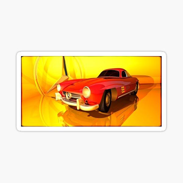 Mercedes-Benz 300 SL (red) Sticker