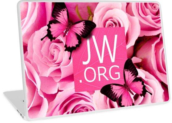 Quot Jw Org Pink Flowers Quot Laptop Skins By Jw Arts Amp Crafts
