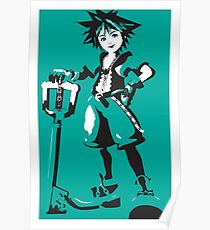 Kingdom Hearts - Sora (Teal) Poster