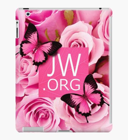 JW.ORG (Pink flowers) iPad Case/Skin
