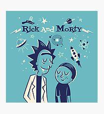 Retro Rick and morty Photographic Print