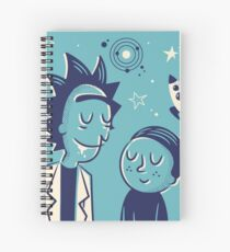 Retro Rick and morty Spiral Notebook