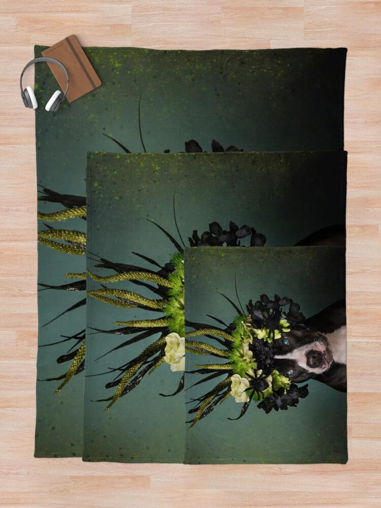 Alternate view of Flower Power, Darla Throw Blanket