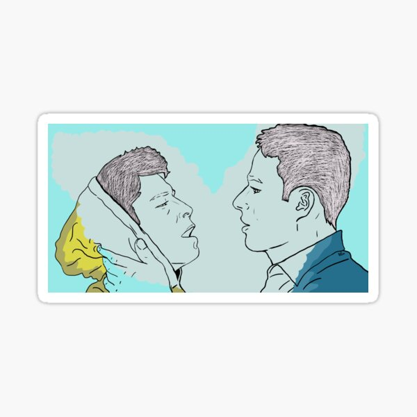 Tarlos - TK and Carlos - Relationship (About to Kiss) - Ronen Rubinstein & Rafael Silva Sticker