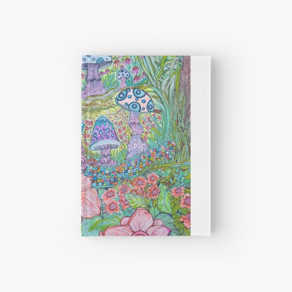 """""""Dream Wonder"""", psychedelic art nouveau style inspired by nature. Hardcover Journal"""