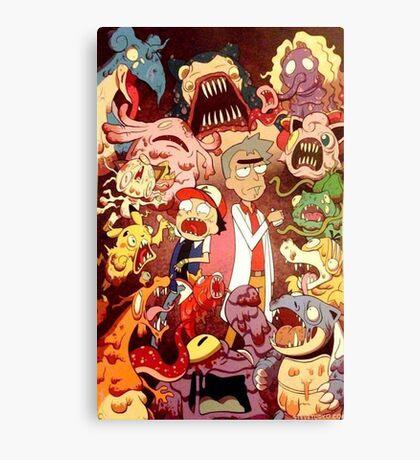 Pocket Mortys? Pokemorty Canvas Print
