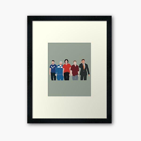 Entourage Framed Art Print