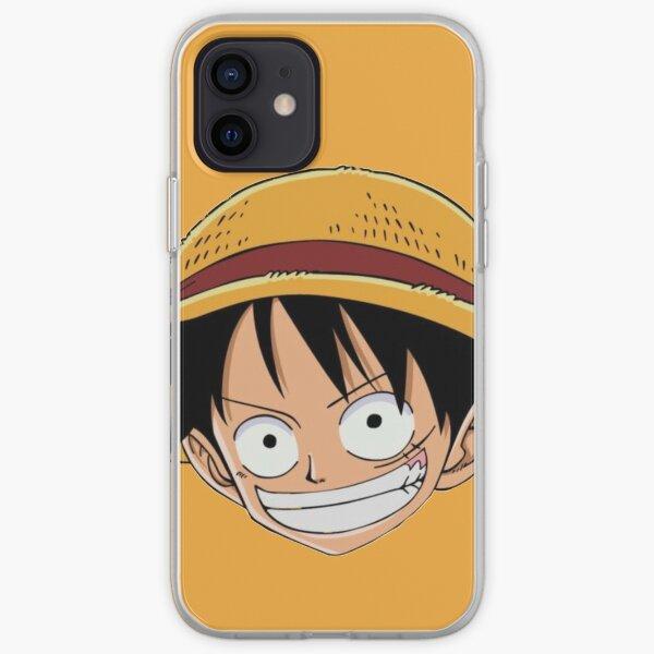 Luffy Anime Sticker (One Piece) iPhone Soft Case