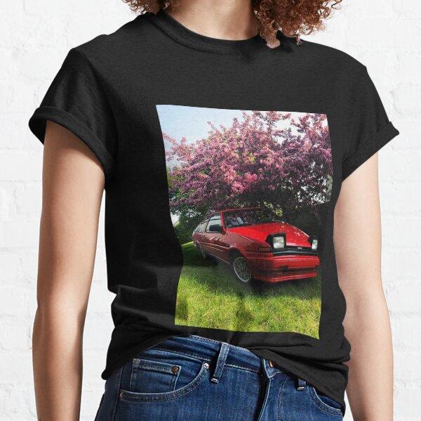 Red Trueno Ae86 with sakura tree Initial D lover Classic T-Shirt