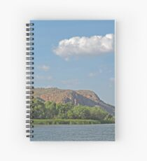 View along the Ord River, Kimberley, Western Australia Spiral Notebook