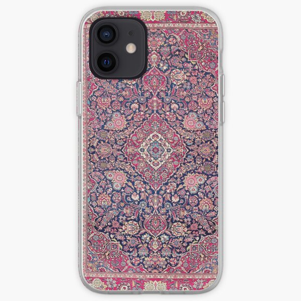 Kashan Central Persian Rug Print iPhone Soft Case