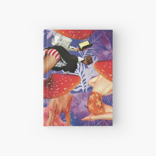 Pin Up Mushroom Girls Hardcover Journal