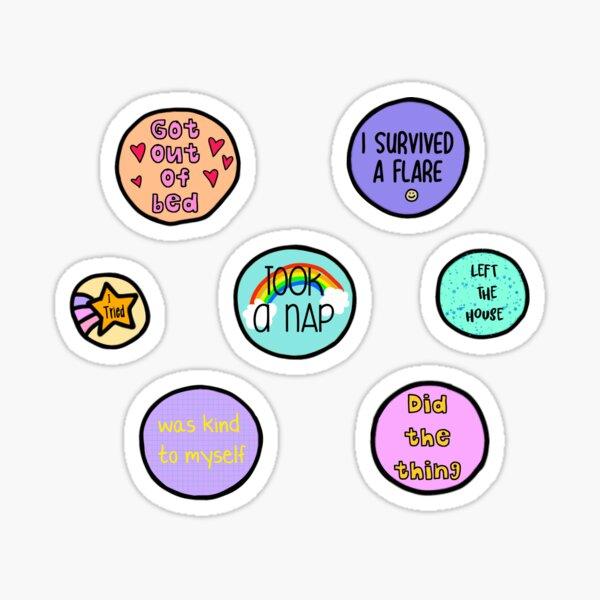 illness awards sticker pack Glossy Sticker