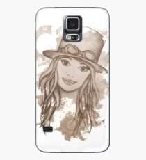 Steampunk Girl Case/Skin for Samsung Galaxy